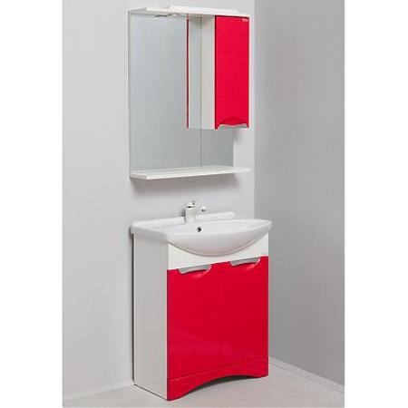 Лагуна 65.10 Красный металликМебель для ванной<br>Тумба с раковиной Onika Лагуна 65.10, одна распашная дверь с 2 выдвижными ящиками.<br>