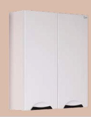 Лагуна 60 К БелыйМебель для ванной<br>Подвесной шкафчик Onika Лагуна 60 К, двухдверный.<br>