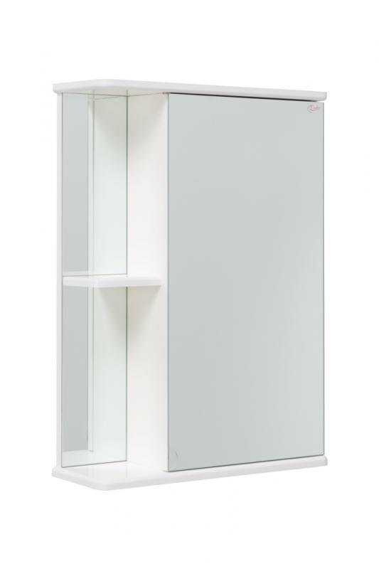 Карина 45.00 У БелыйМебель для ванной<br>Зеркальный шкаф Onika Карина 45.00 У, без подсветки.Комплектация: полочка нижняя, козырёк верхний, шкаф центральный с внутренними полками.<br>