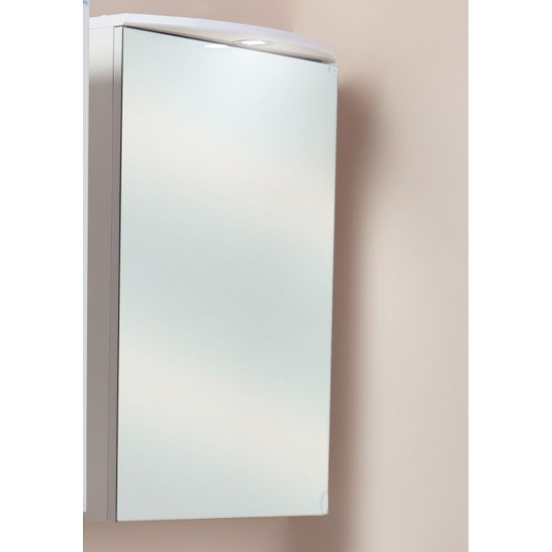 Венеция 50.01 Белый, левыйМебель для ванной<br>Зеркальный шкаф Onika Венеция 50.01 с подсветкой. Комплектация: фурнитура металл хром, блок розетка-выключатель, трансформатор, 1   светильник.<br>