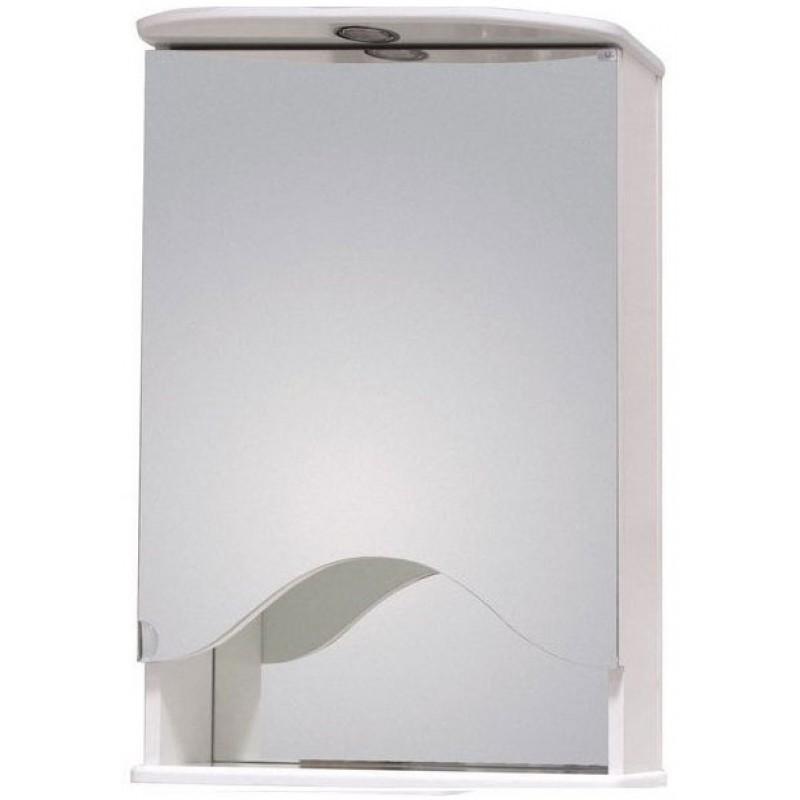Лидия 50.01 Белый, левыйМебель для ванной<br>Зеркальный шкаф Onika Лидия 50.01 с подсветкой. Комплектация: фурнитура металл хром, блок розетка-выключатель, трансформатор, 1   светильник.<br>