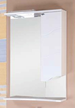 Зеркальный шкаф Onika Лайн 58.01 Белый, правый зеркальный шкаф am pm sensation 80 правый с подсветкой белый глянец m30mcr0801wg