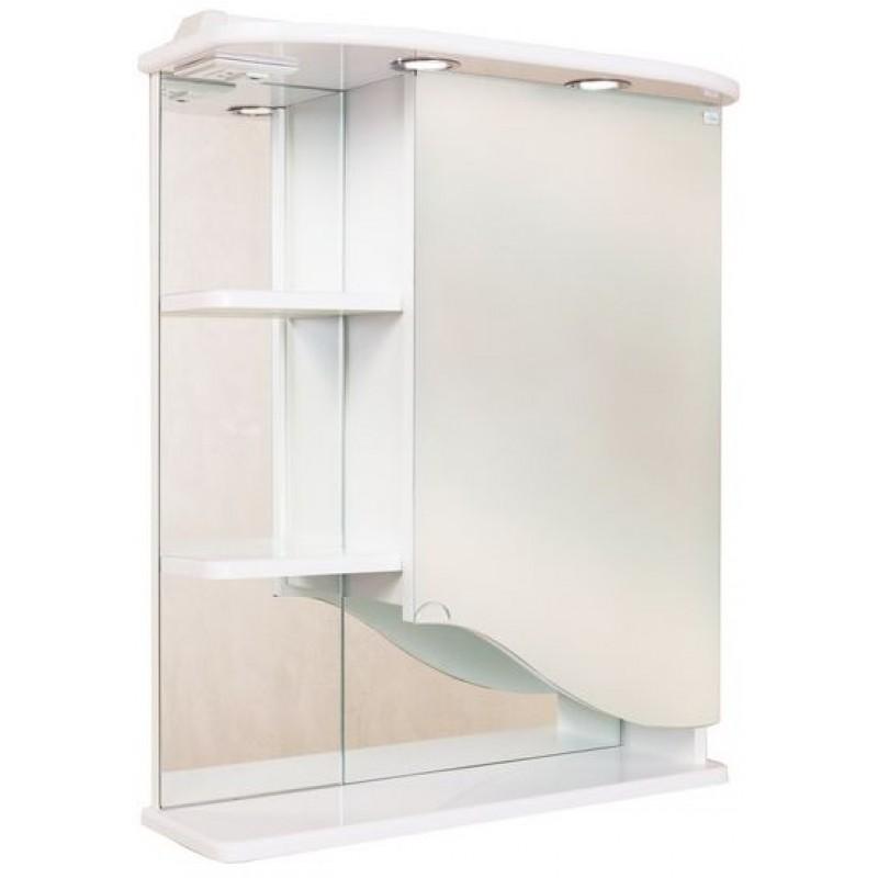 Виола 60.02 Белый, левыйМебель для ванной<br>Зеркальный шкаф Onika Виола 60.02 с подсветкой, комплектация: фурнитура металл хром, блок «розетка-выключатель», трансформатор, 2  светильника.<br>