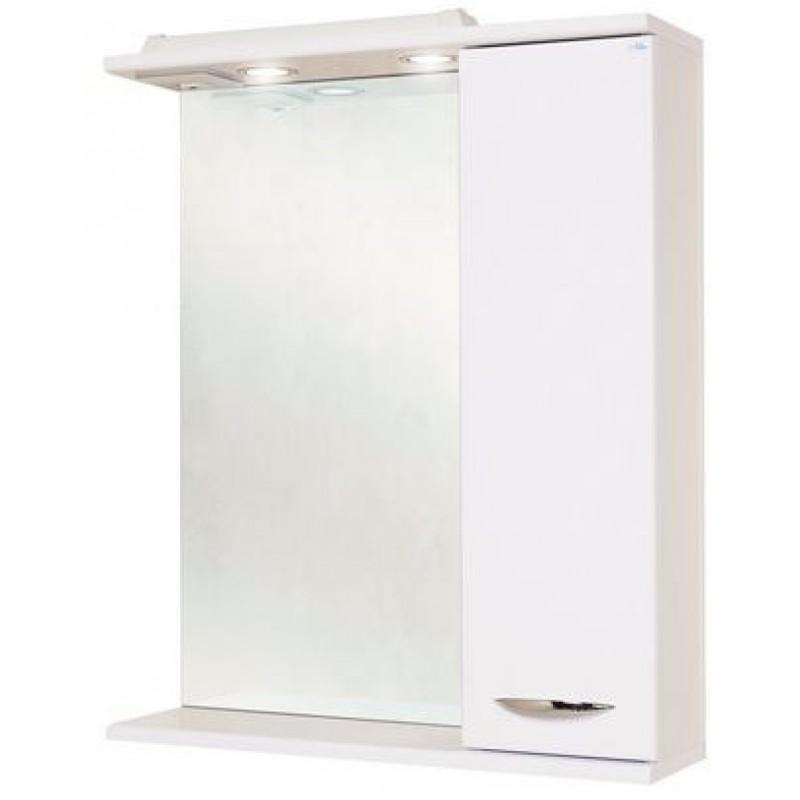 Ника 60.02 Белый, левыйМебель для ванной<br>Зеркальный шкаф Onika Ника 60.02 с подсветкой, комплектация: фурнитура металл хром, блок розетка-выключатель, трансформатор, 2 светильника.<br>