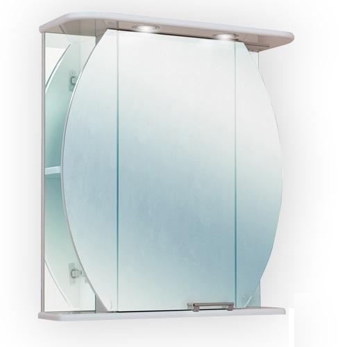 Шар 62.02 БелыйМебель для ванной<br>Зеркальный шкаф Onika Шар 62.02 с подсветкой, комплектация - фурнитура металл хром, блок розетка-выключатель, трансформатор, 2 светильника.<br>