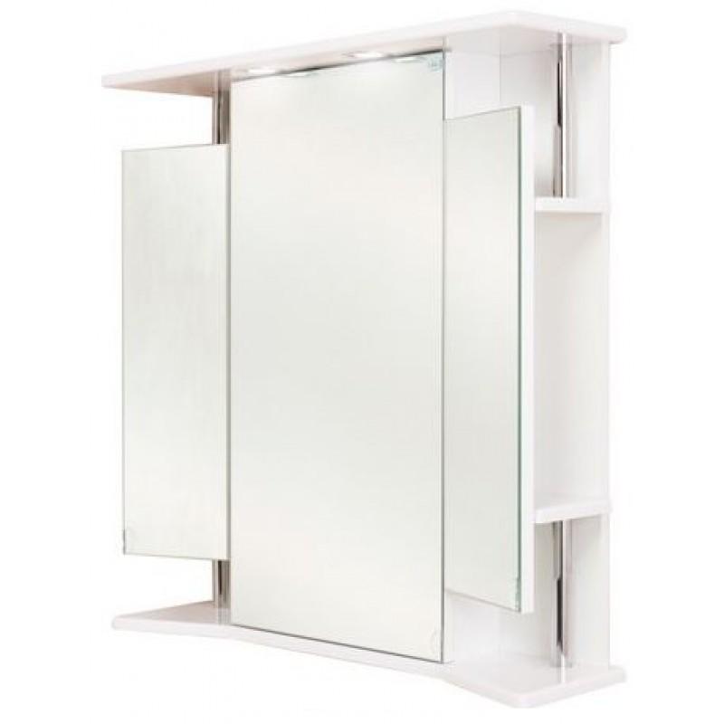 Валерия 65.02 БелыйМебель для ванной<br>Зеркальный шкаф Onika Валерия 65.02 с подсветкой,  фурнитура металл хром, блок розетка-выключатель, трансформатор, 2  светильника.<br>
