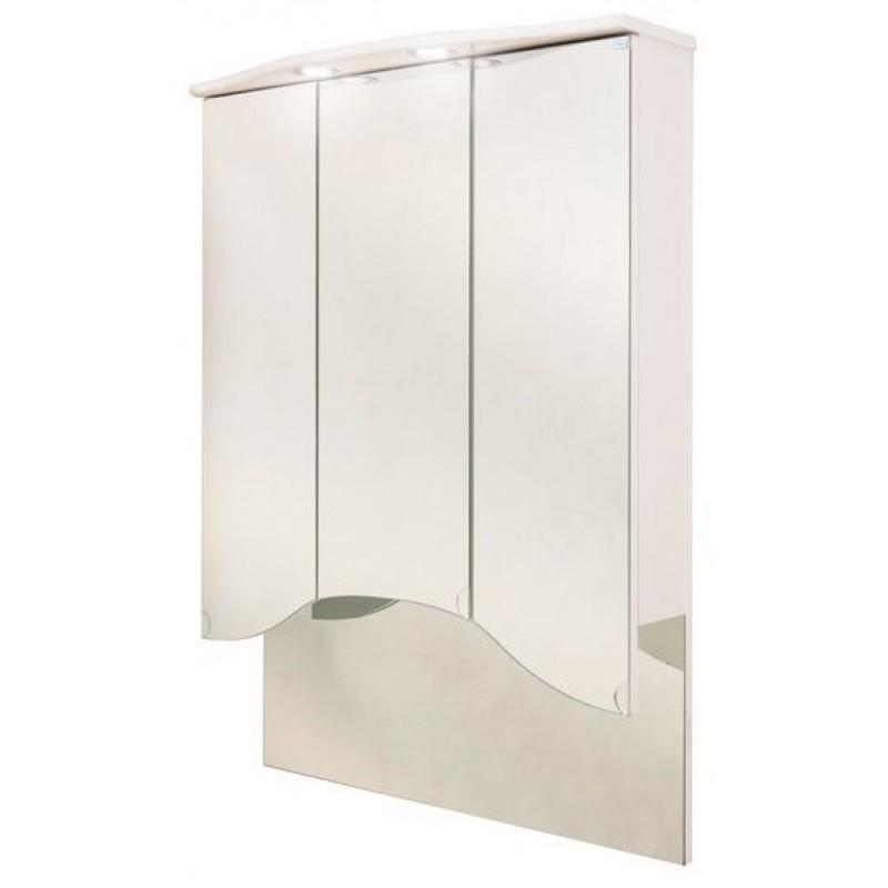 Лидия 75.102 БелыйМебель для ванной<br>Зеркальный шкаф Onika Лидия 75.102 с подсветкой, комплектация - фурнитура металл хром, блок розетка-выключатель, трансформатор, 2 светильника.<br>