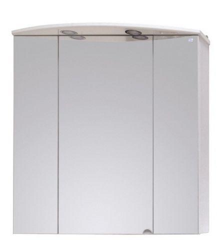 Памир 80.02 БелыйМебель для ванной<br>Зеркальный шкаф Onika Памир 80.02 с подсветкой.<br>