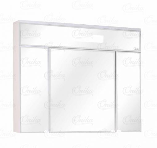 Сигма 90.01 БелыйМебель для ванной<br>Зеркальный шкаф Onika Сигма 90.01 с подсветкой, комплектация: светильник встроенный,розетка с выключателем, шкаф центральный с внутренними полками, боковые дверки с внутренними полками.<br>