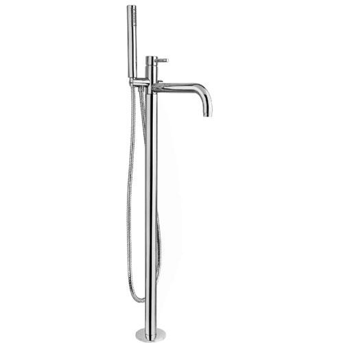 Kobuk ML.KOB-2260 CR (хром)Смесители<br>Смеситель для ванны напольный Migliore Kobuk ML.KOB-2260 CR в комплекте с гибким шлангом и ручным душем с держателем на смесителе. Цвет хром.<br>