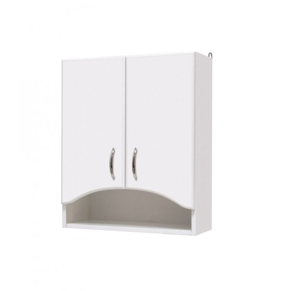 Арка 55 БелыйМебель для ванной<br>Шкаф подвесной двухдверный Onika Арка 55, в комплекте имеются крепежные элементы и вся необходимая фурнитура.<br>