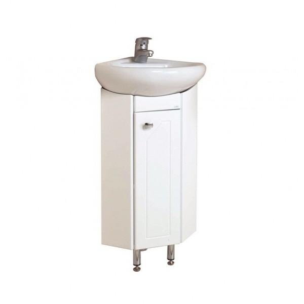 Малютка 33 БелыйМебель для ванной<br>Шкаф угловой Onika Малютка 33, в комплекте имеются крепежные элементы и вся необходимая фурнитура.<br>