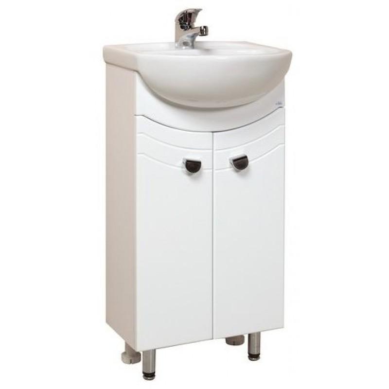 Манго  40.11 БелыйМебель для ванной<br>Тумба с раковиной Onika Манго 40.11, в комплекте имеются крепежные элементы и вся необходимая фурнитура.<br>
