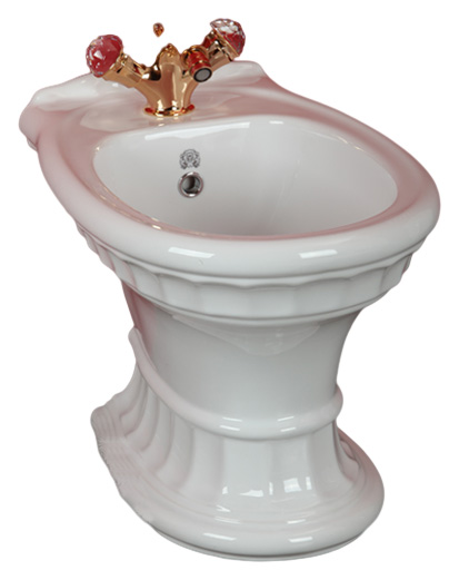 Gianeta ML.GNT-25.832 D1 (с декором)Биде<br>Биде напольное Migliore Gianeta ML.GNT-25.832 D1, выпуск в стену. Цвет белая керамика с декором.<br>