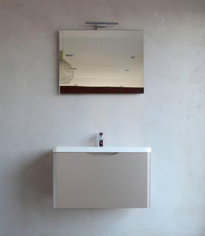 Ancona 800 BB800ESC/BL Bianco LucidoМебель для ванной<br>Тумба под раковину Belbagno Ancona 800 ESC BB800ESC/BL, с одним выдвижным ящиком и скрытой внутренней полочкой, с доводчиками, со скрытой (фрезерованной) ручкой в плоскости фасада. Зеркало BB800MA  и раковина BB800WEB  приобретаются отдельно.<br>