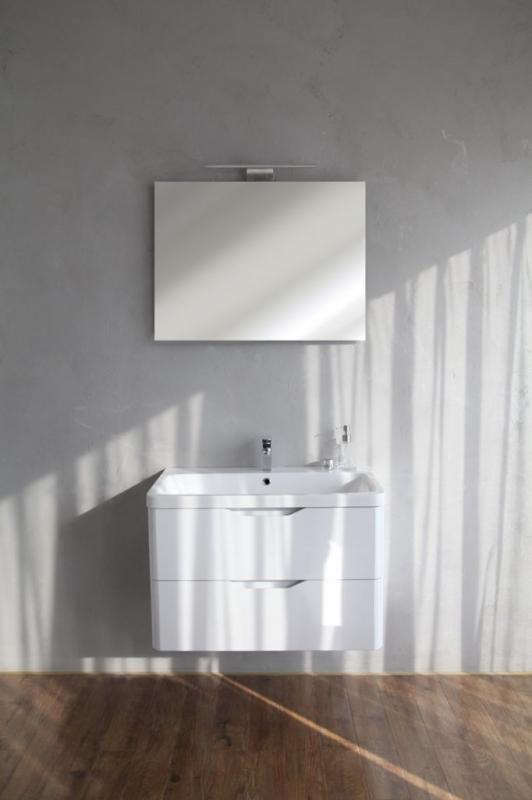 Ancona 800 WAC Bianco LucidoМебель для ванной<br>Тумба под раковину Belbagno Ancona 800 BB800WAC/BL, с двумя выкатными ящиками, с доводчиками, со скрытыми (фрезерованными) ручками в плоскости фасада. Зеркало BB800MA и раковина BB800WEB  приобретаются отдельно.<br>