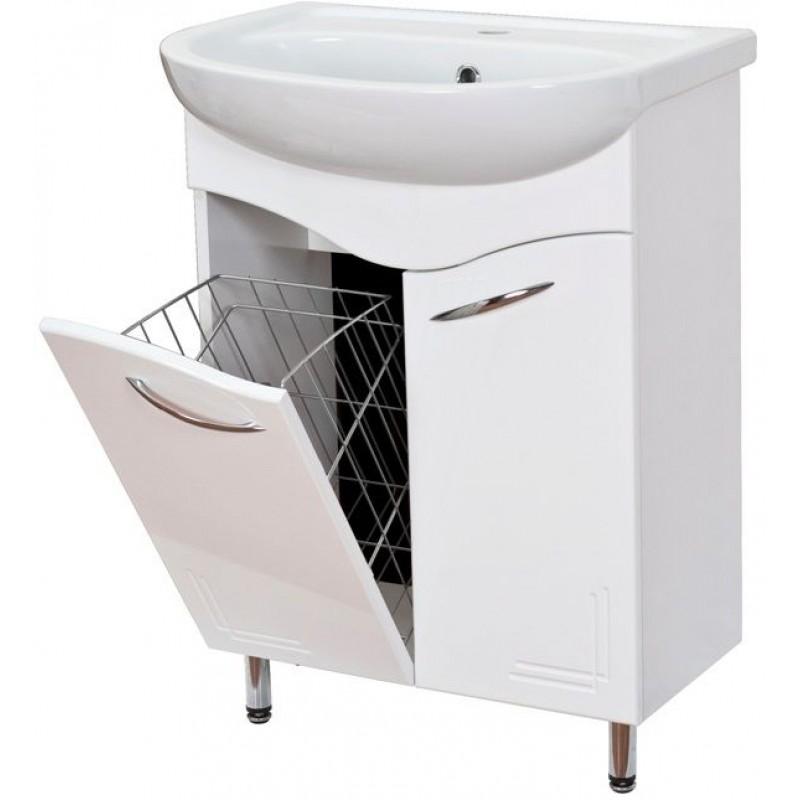 Лада 60.17 БелыйМебель для ванной<br>Тумба с раковиной Onika Лада 60.17, тумба имеет 2 распашные дверцы, внутри находится 1 полка. Задняя стенка у тумбы отсутствует, кроме планки шириной примерно 10 см в верхней части. Смеситель и сифон в комплект поставки не входит.<br>