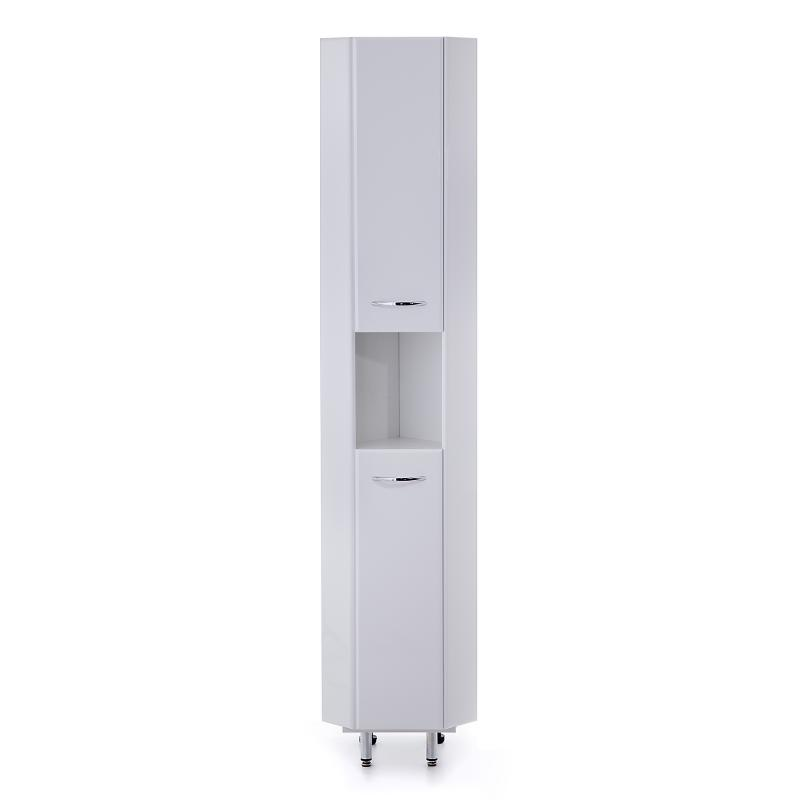 Дюна 30.10 У БелыйМебель для ванной<br>Пенал Onika Дюна 30.10 У, открытая ниша, двери распашные, петли по желанию на левую, или правую сторону, полки внутренние, ручки - металл (хром), ножки передние (нерегулируемые) - металл (хром), ножки задние (регулируемые) - пластик.<br>