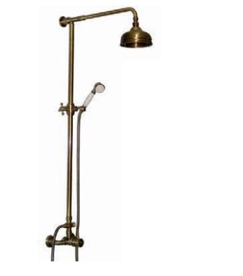Loft LF0118BR БронзаДушевые системы<br>Душевая система Marti 1921 Loft LF0118BR. В комплекте: штанга, лейка, ручной душ, смеситель.<br>