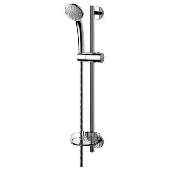 Ideal Rain B9503AA ХромДушевые гарнитуры<br>Душевой гарнитур Ideal Standart Ideal Rain B9503AA. В комплектацию входит: душевая лейка, мыльница, шланг для душа, держатель душа.<br>