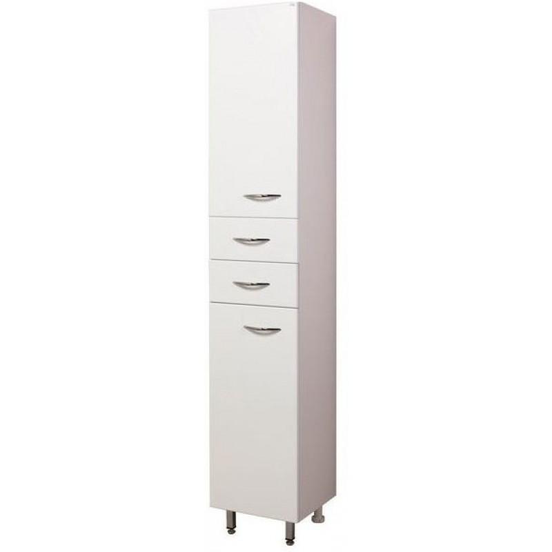 Модерн 35.10 Белый, левыйМебель для ванной<br>Пенал Onika Модерн 35.10. Двери распашные 2 шт, ящики выдвижные 2 шт, полки внутренние, ручки - металл (хром), ножки передние - металл (хром), ножки задние - пластик.<br>