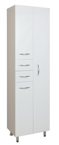 Модерн 52.10 Белый, правыйМебель для ванной<br>Пенал Onika Модерн 52.10. Фурнитура металл хром, 2 ящика, отделение для халата.<br>