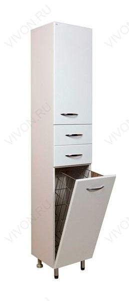 Модерн 35.17 Белый, правыйМебель для ванной<br>403504 напольный пенал Onika Модерн 35.17 с двумя выдвижными ящиками, одной распашной и одной откидной дверцами. В нижней секции — бельевая корзина.<br>