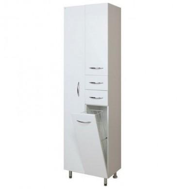Модерн 52.17 БелыйМебель для ванной<br>Пенал Onika Модерн 52.17. Фурнитура металл хром, 2 ящика, корзина для белья, отделение для халата.<br>