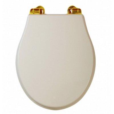 Bella ML.BLL-26.110.DS DO (золото)Комплектующие<br>Крышка-сиденье для унитаза Migliore Bella ML.BLL-26.110.DS DO с системой Microlift. Цвет Decape Sabbia, петли золото.<br>