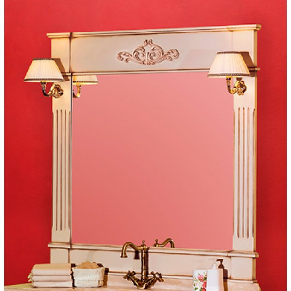 Kantri PS.KNR-SP120 NC (Noce)Мебель для ванной<br>Зеркало Migliore Kantri PS.KNR-SP120 NC. Светильники приобретаются отдельно. Цвет Noce (орех).<br>