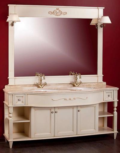 Kantri PS.KNR-BA170 NC (Noce)Мебель для ванной<br>Тумба для 2-х раковин Migliore Kantri  PS.KNR-BA170 NC, с ящиками, с полками, с дверками.  Цвет Noce (орех).<br>
