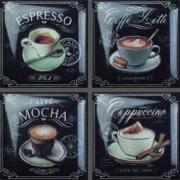 Coffee Decos (set 4 pcs) 15x15 декор
