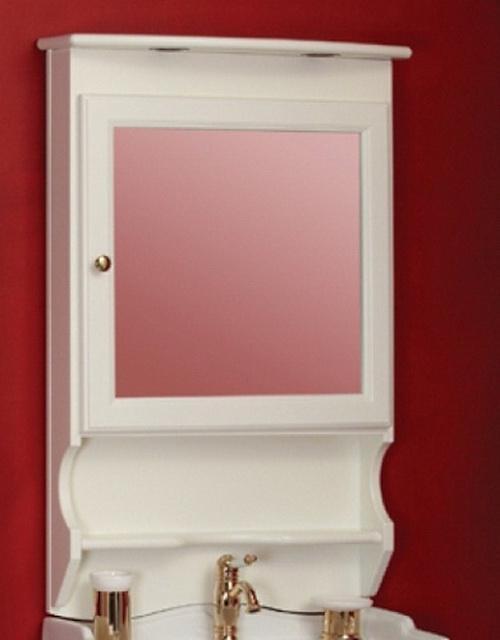 Bella ML.BLL-CS448 LB (laccato bianco)Мебель для ванной<br>Зеркало-шкаф Migliore Bella ML.BLL-CS448 LB, петли справа, в раме, с подсветкой. Цвет laccato bianco (белый глянцевый).<br>