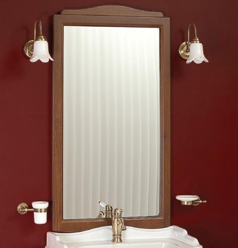 Bella ML.BLL-SP447 LB (laccato bianco)Мебель для ванной<br>Зеркало прямоугольное  Migliore Bella ML.BLL-SP447 LB,  в раме, без подсветки.  Цвет laccato bianco (белый глянцевый).<br>
