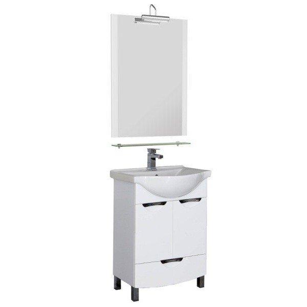 Асти 55 БелаяМебель для ванной<br>Тумба под раковину Aquanet Асти 55. Распашные двери, ящик.<br>