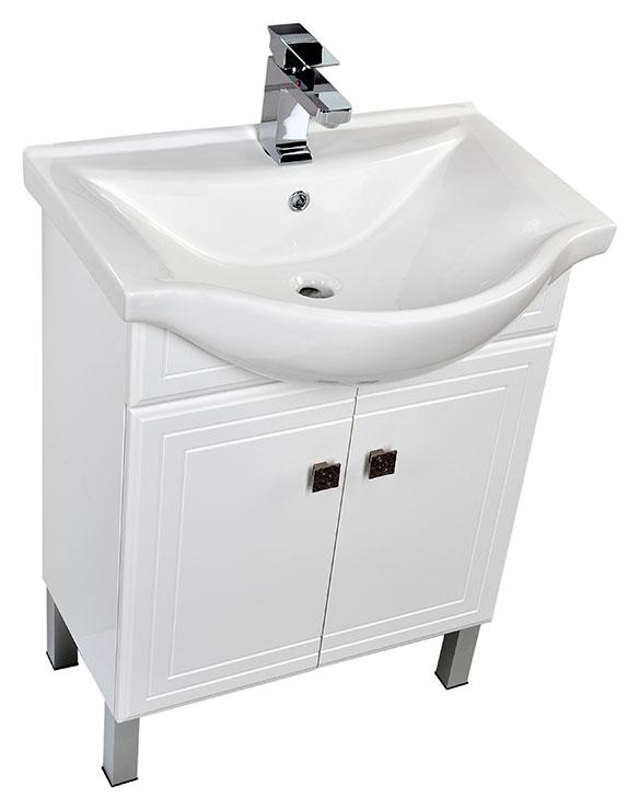 Стайл  65 БелаяМебель для ванной<br>Тумба под раковину Aquanet Стайл  65. Распашные дверцы.<br>