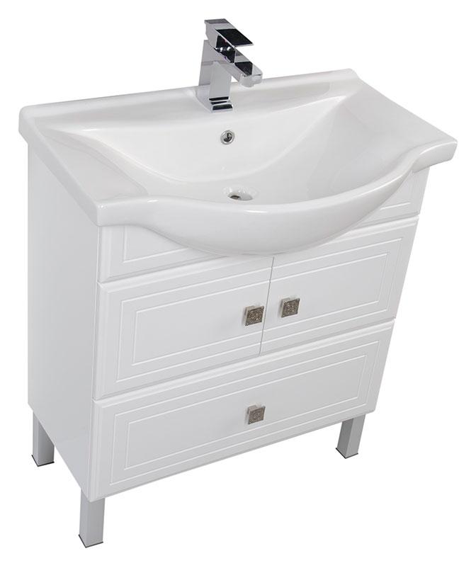 Стайл  75 БелаяМебель для ванной<br>Тумба под раковину Aquanet Стайл  75. Распашные дверцы, нижний ящик.<br>