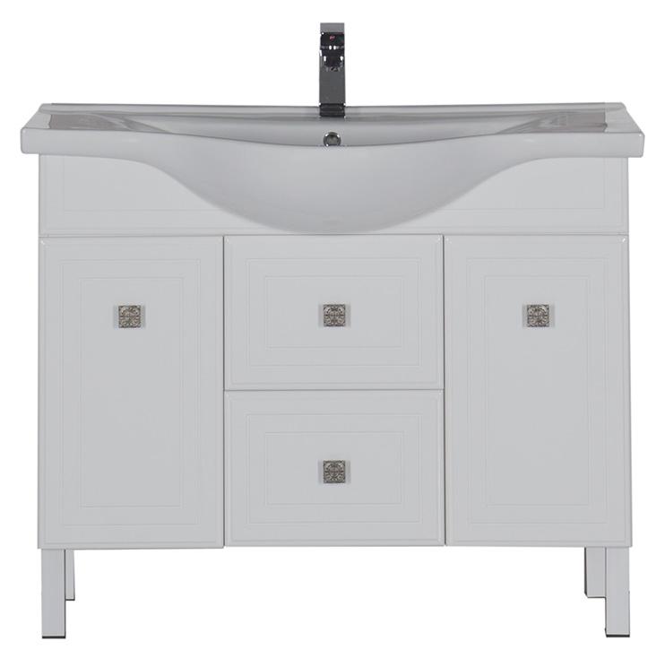 Стайл 105 БелаяМебель для ванной<br>Тумба под раковину Aquanet Стайл 105. Распашные дверцы, ящики.<br>