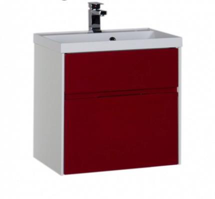 Латина 60 ЧернаяМебель для ванной<br>Тумба под раковину Aquanet Латина 60. Подвесная, с двумя ящиками.<br>