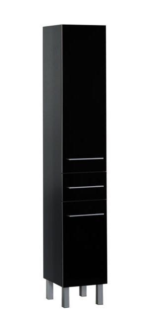 Верона 35  ЧерныйМебель для ванной<br>Шкаф-пенал Aquanet Верона 35.  Распашные дверцы, 1 выдвижной ящик.<br>
