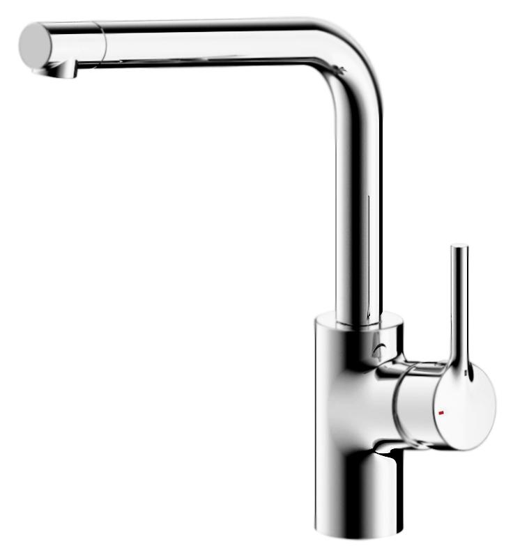 Palace F7172217CP-1-RUS ХромСмесители<br>Высокий смеситель для кухни Bravat Palace F7172217CP-1-RUS, однорычажный.<br>Покрытие: хром.<br> Латунный корпус, цинковая ручка.<br> Поворотный излив.<br> Керамический картридж Kerox 35 мм.<br>Аэратор Neoperl.<br> Расход воды: 8,3 л/мин при давлении 0,3 MPa.<br>Гибкая подводка G1/2, длиной 450 мм.<br>