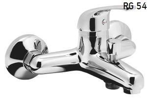 Riga RG 54 ХромСмесители<br>Смеситель для ванной Esko Riga RG 54 с коротким изливом. В комплекте: керамический картридж Esko 35 мм, эксцентрики, отражатели. Полностью литые конструкции, пластиковые аэраторы Neoperl c системой самоочистки.<br>
