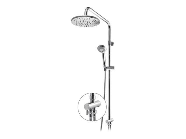 Shower Tower ST 950 ХромДушевые системы<br>Душевая система Shower Tower ST 950. Стойка 920 мм, диаметр верхнего душа 240 мм, нержавеющая сталь, ручной душ на 5 режимов, 85 мм, душевой шланг металлический 1600 мм, шланг металлический 500 мм.<br>