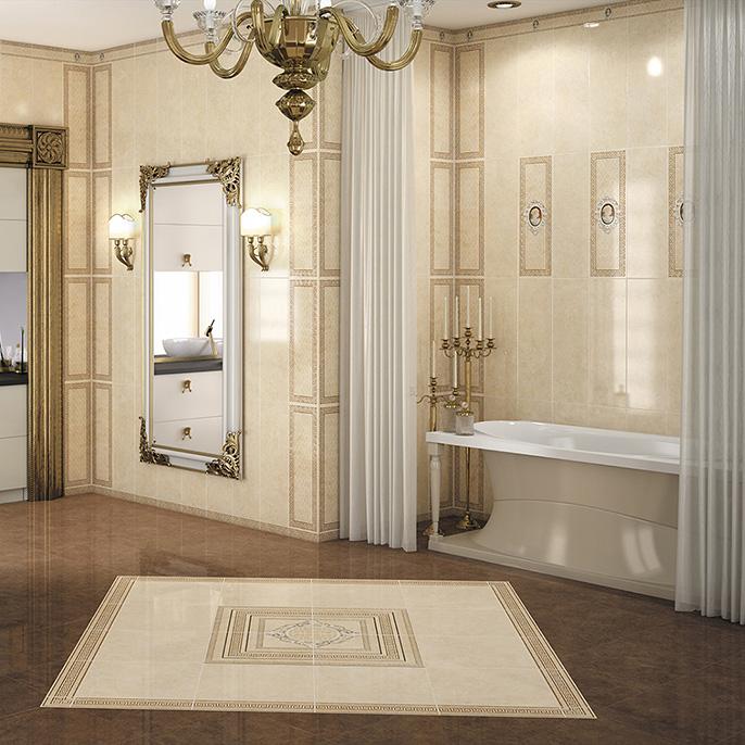 Керамическая плитка Saloni Villae Lante Ocre 25x75 настенная стоимость