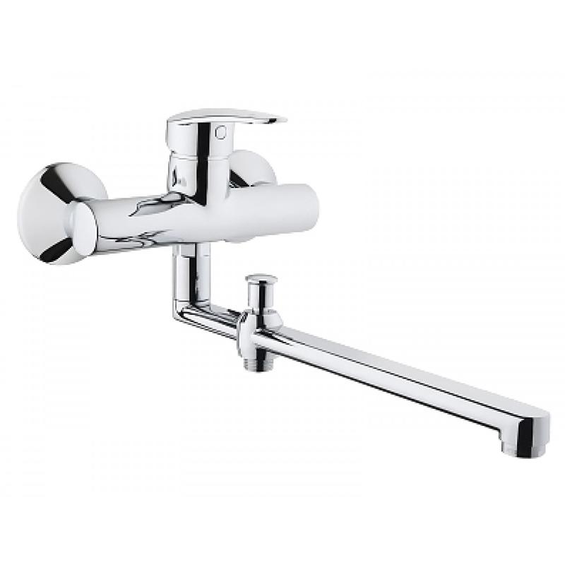 Dynamic S A42038EXP ХромСмесители<br>Смеситель для ванны и душа Vitra Dynamic S A42038EXP с длинным изливом.<br>Особенности: <br>Аэратор,<br>Ограничение температуры и напора воды,<br>Керамический картридж,<br>Дивертор с фиксацией.<br>В комплекте поставки: <br>Смеситель,<br>Эксцентрик. <br>