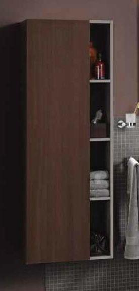 Durastyle DS1238R5353 Тёмный каштанМебель для ванной<br>Duravit Durastyle DS1238L5353 шкаф подвесной, правосторонний. Размеры: 500 x 240 x 1400 мм.<br>