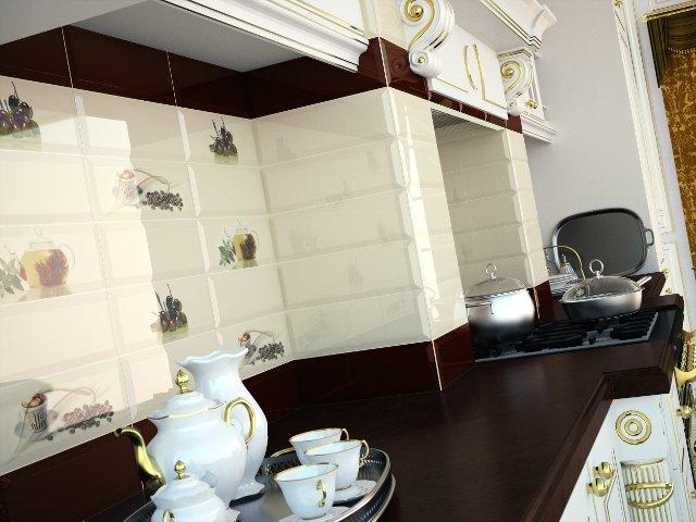 Керамическая плитка Monopole Ceramica Gourmet/Romantic Decor Olivas 10x30 декор