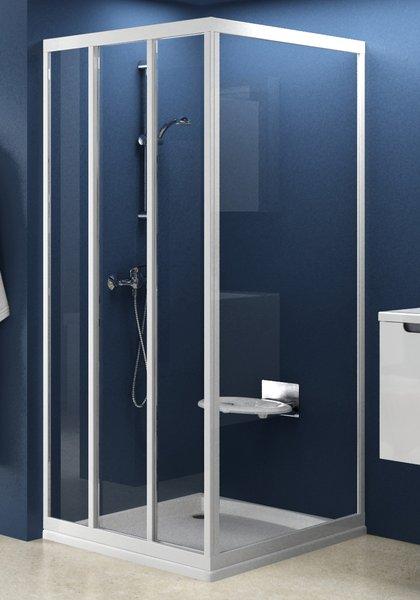 APSS-80 сатин+транспарентДушевые ограждения<br>Неподвижная стенка Ravak Supernova APSS-80. Артикул 94040U02Z1. Сочетается с душевыми дверями ASDP3 (высотой 1880 мм) для создания душевого уголка по своим размерам. Неподвижная стенка APSS в комбинации с душевыми дверями высотой 1880 мм (ASDP3) позволяет создать душевой уголок формы Г (одна стенка +одна дверь) или П (две стенки+одна дверь). Душевой уголок формы П так же возможно создать с помощью одной неподвижной стенки APSS и душевого уголка  ASRV3.<br>