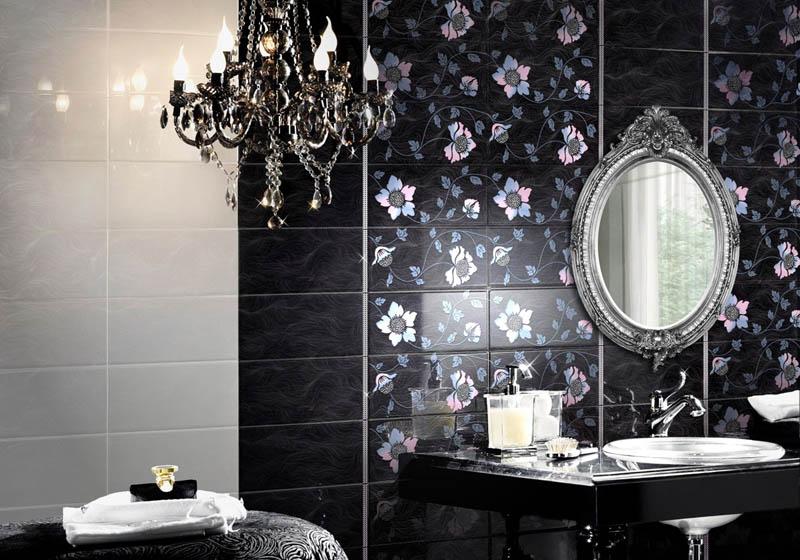 купить Керамическая плитка Нефрит Керамика Болеро Орхидея 1 25x50 декор онлайн