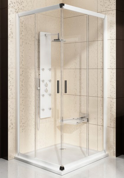 Дверь для душевого уголка Ravak Blix BLRV2К-100 блестящий+транспарент дверь для душевого уголка ravak blix blrv2к 110 блестящий транспарент